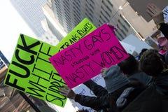 2017 vrouwen ` s Maart op de Stad van New York Stock Foto's