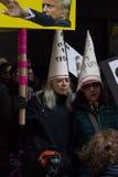 2017 vrouwen ` s Maart op de Stad van New York Stock Foto