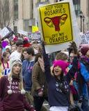 Vrouwen ` s Maart op Washington royalty-vrije stock foto