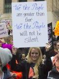 Vrouwen ` s Maart op Washington Stock Afbeeldingen