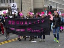 Vrouwen ` s Maart op Washington Stock Fotografie