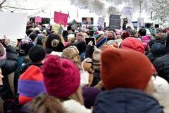 Vrouwen ` s Maart - Parkstad Stock Foto