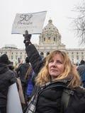 Vrouwen ` s Maart, Saint Paul, Minnesota, de V.S. Stock Foto