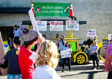 2018 vrouwen ` s Maart in Santa Ana, Californië Royalty-vrije Stock Foto