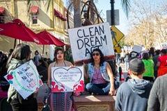2018 vrouwen ` s Maart in Santa Ana, Californië Royalty-vrije Stock Afbeelding