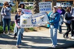 2018 vrouwen ` s Maart in Santa Ana, Californië Royalty-vrije Stock Foto's
