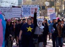 Vrouwen` s Protest Maart, San Francisco, CA Stock Fotografie