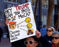 Vrouwen` s Protest Maart, San Francisco, CA Stock Afbeelding