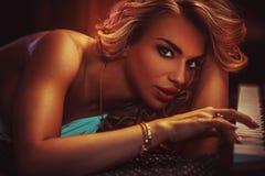 Vrouwen sensueel portret stock fotografie