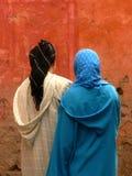 Vrouwen in sluier Stock Afbeeldingen