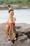 Vrouwen in Thais kostuum Royalty-vrije Stock Afbeeldingen