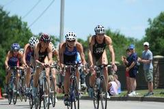 Vrouwen triathlon Stock Afbeeldingen