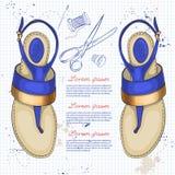 Vrouwen van de manier de schoenen van de vectorschets Royalty-vrije Stock Afbeeldingen