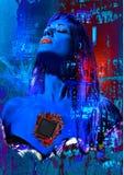 Vrouwen van het digitale hart Stock Foto