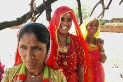 Vrouwen van Rajasthan in India. Royalty-vrije Stock Afbeeldingen