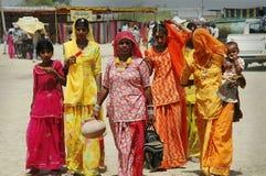 Vrouwen van Rajasthan in India. Royalty-vrije Stock Fotografie