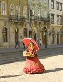 Vrouwen verkopende snoepjes, Lvov Stock Fotografie