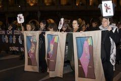 Vrouwen voor vrij Palestina Royalty-vrije Stock Foto