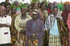 Vrouwen zonder Echtgenotenvrouwen die van de maatschappij zijn verbannen of die hun echtgenoten hebben verloren en zich slechts a Stock Fotografie