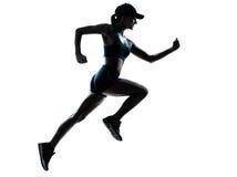 Vrouwenagent jogger stock foto