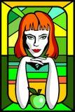 Vrouwenappel vector illustratie