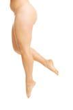 Vrouwenbenen met overgewicht Stock Foto