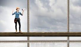 Vrouwenbouwer Royalty-vrije Stock Afbeelding