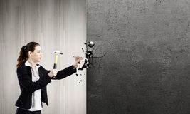Vrouwenbouwer Stock Fotografie