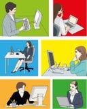 Vrouwencomputers Royalty-vrije Stock Afbeelding