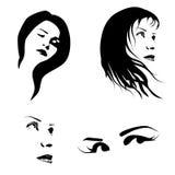 Vrouwengezicht Stock Afbeeldingen