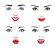 Vrouwengezichten Royalty-vrije Stock Afbeeldingen