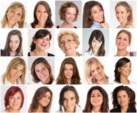 Vrouwenglimlachen Royalty-vrije Stock Foto