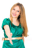 vrouwenhanddruk Royalty-vrije Stock Afbeelding