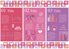 Vrouweninfographics Royalty-vrije Stock Afbeelding