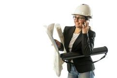 Vrouweningenieur stock foto