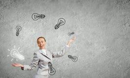 Vrouwenjuggler Stock Foto