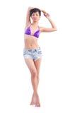 Vrouwenlichaam in bikini Royalty-vrije Stock Afbeeldingen