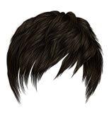 In vrouwenman korte haren met rand Donkere bruine kleur De stijl van de schoonheid Realistische 3d royalty-vrije illustratie