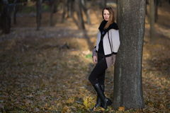 Vrouwenmeisje in de Schoonheid van het Gebiedsland Royalty-vrije Stock Foto's