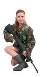 Vrouwenmilitair Royalty-vrije Stock Foto's