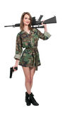 Vrouwenmilitair stock fotografie