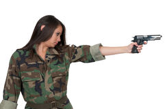 Vrouwenmilitair Royalty-vrije Stock Afbeeldingen