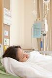 Vrouwenpatiënten in het ziekenhuis Stock Foto