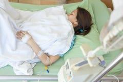 Vrouwenpatiënten in het ziekenhuis Stock Fotografie