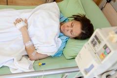 Vrouwenpatiënten in het ziekenhuis Stock Afbeelding