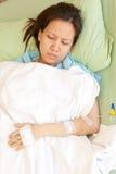 Vrouwenpatiënten in het ziekenhuis Stock Afbeeldingen