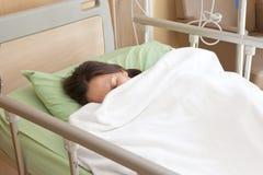 Vrouwenpatiënten in het ziekenhuis Royalty-vrije Stock Fotografie