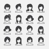 Vrouwenpictogram Stock Foto
