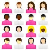 Vrouwenpictogram Stock Afbeelding