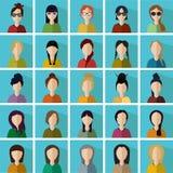 Vrouwenpictogrammen Stock Fotografie